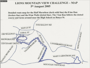 Lions Mountain View Callenge 2012 Course Map