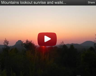 Glass House Mountains lookout Sunrise and Walking Track by Andrew McCarthy-Wood