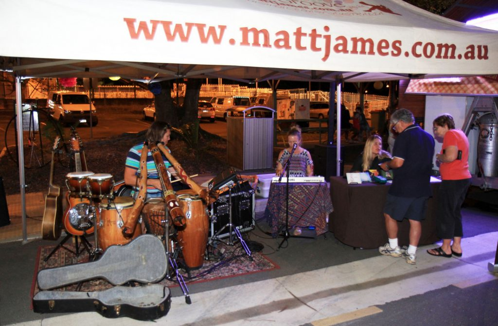 Matt James Music Tent at the Beerwah Celebration and Street Party 2014