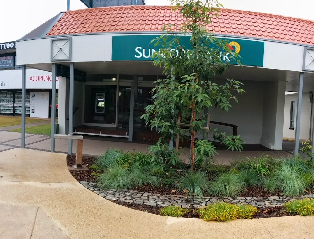 Suncorp Bank Beerwah with Planting in the forground 2014