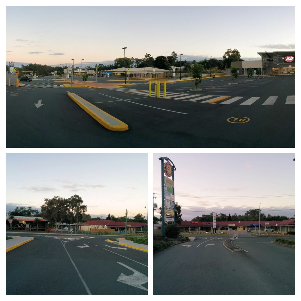 Beerwah IGA and Beerwah Target Carpark in Beerwah Shopping Village June 2015 COLLAGE