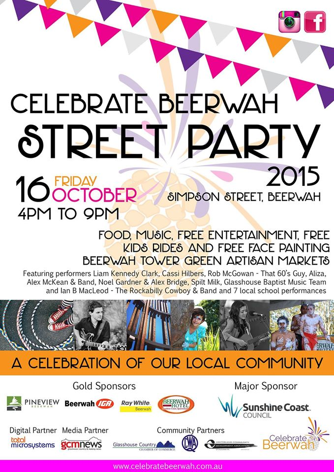 Official Celebrate Beewah Street Party Poster 2015
