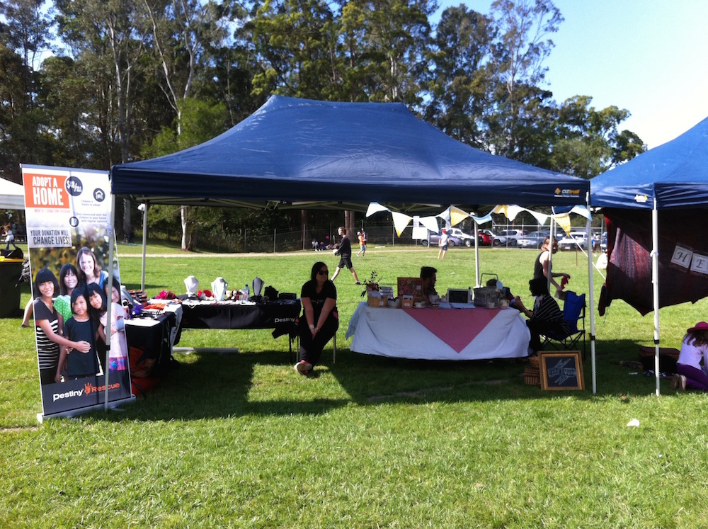 The Destiny Rescue Tent at Moofest Mooloolah 2015