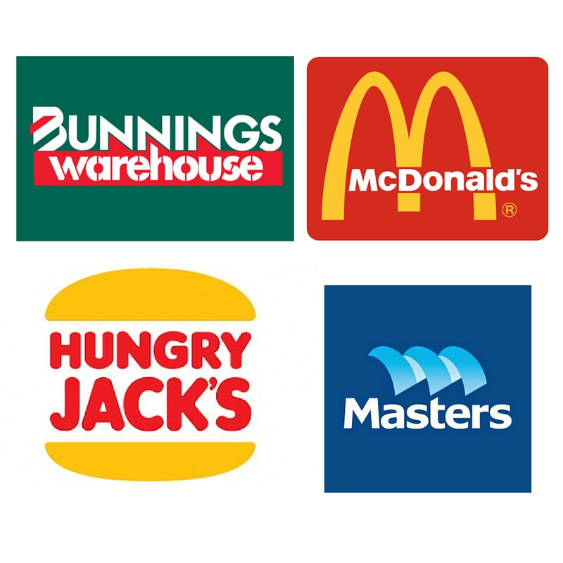 Dicussion about Bunnings Masters Hungry Jacks McDonalds