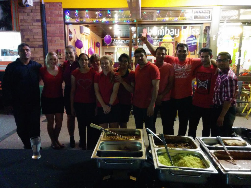 The Team at Bombay Bliss Beerwah Beerwah Street Party 2015