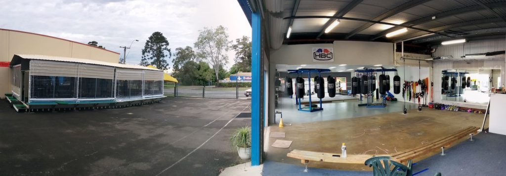 Hinterland Boxing Club Court Yard and Gym
