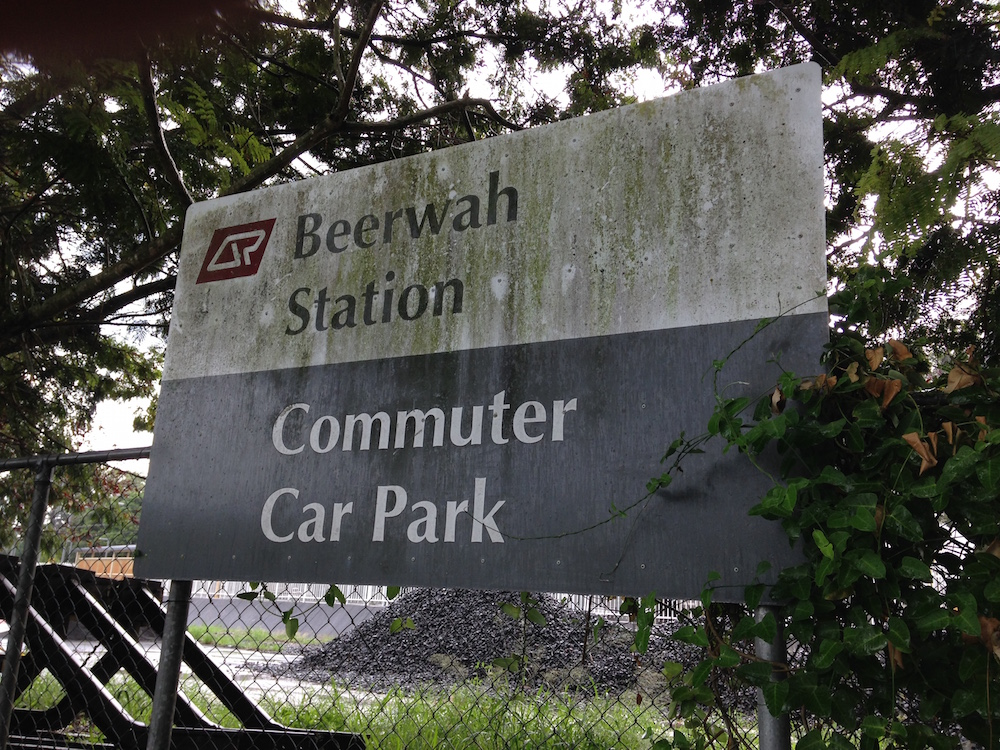 Beerwah Commuter Car Park Sign
