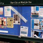 The Glasshouse Country Notice Board in August 2012