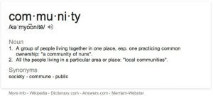 Community Definition on iMac