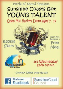 Sunshine Coast got Young Talent - Beach House Bar and Grill