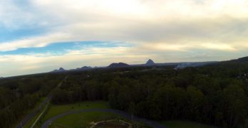 The Glasshouse Mountains from Skippy Park