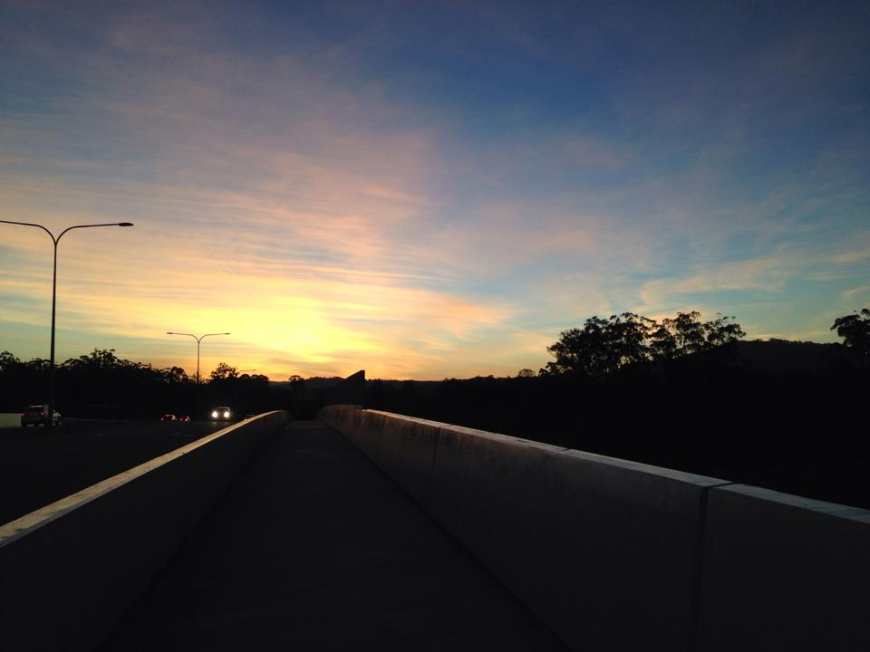 Sunset from Nev Anning Bridge