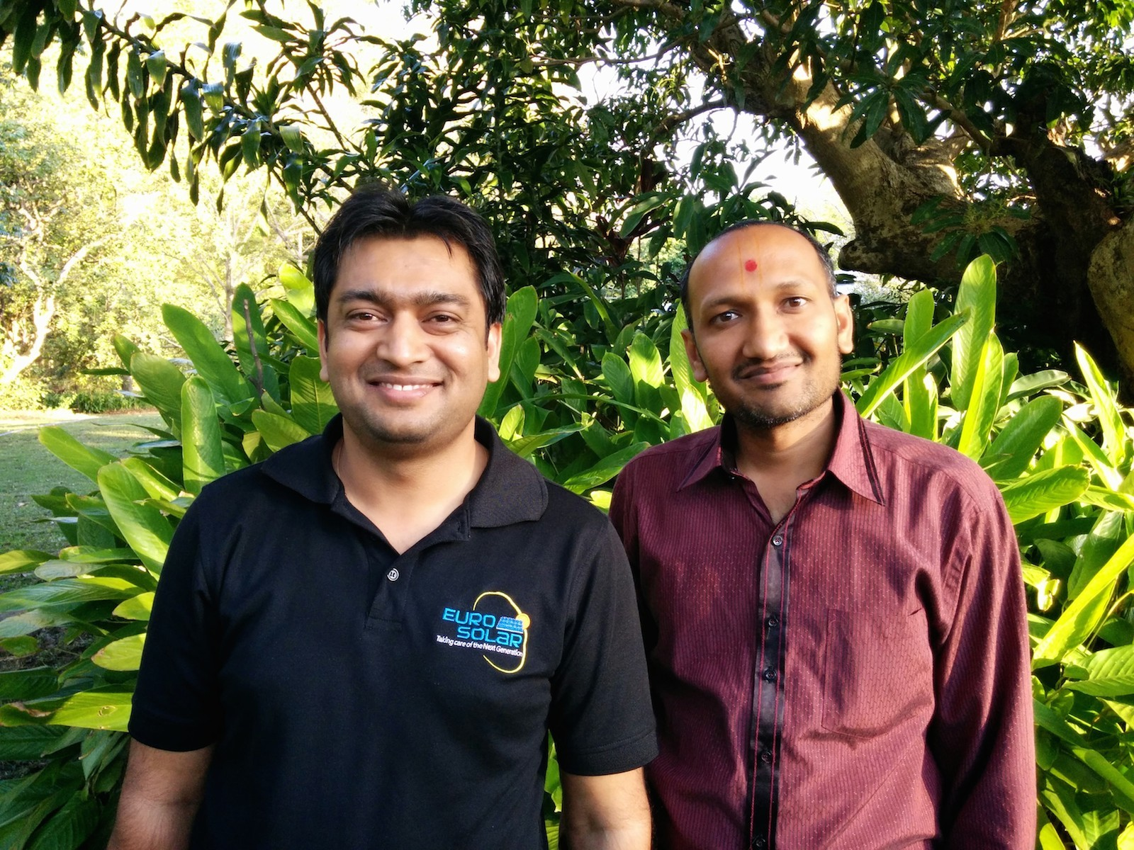 Milan and Himanshu Euro Solar Salesmen in Beerwah