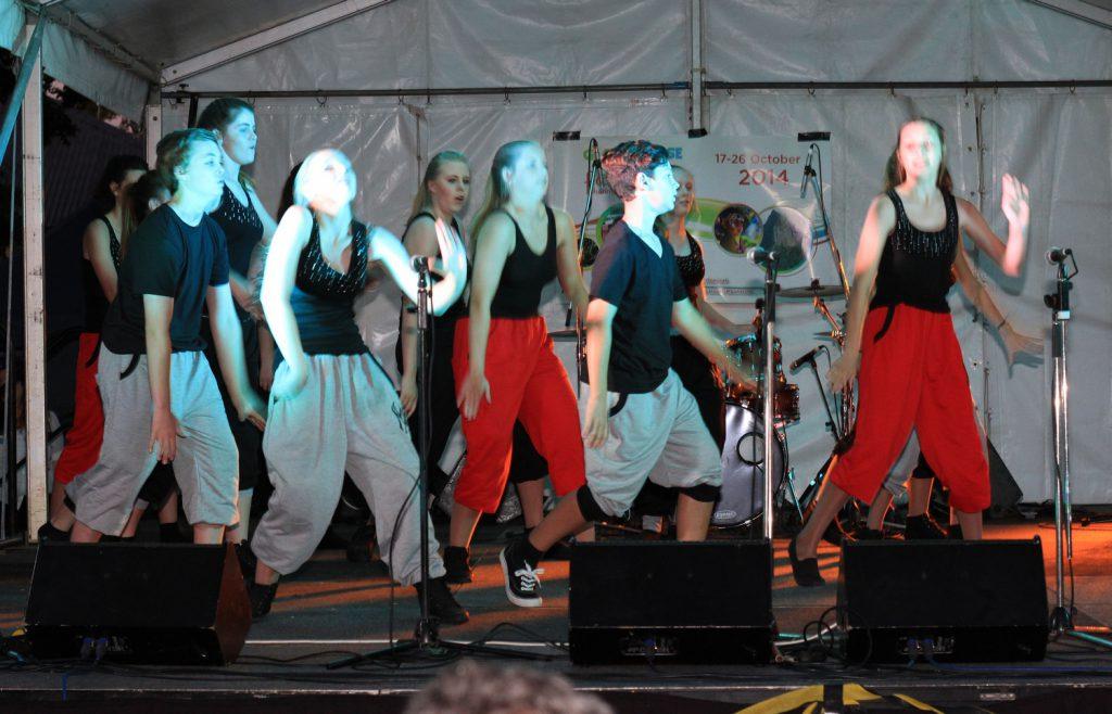 Dancers Dancing in Beerwah Street Party and Celebration 2014