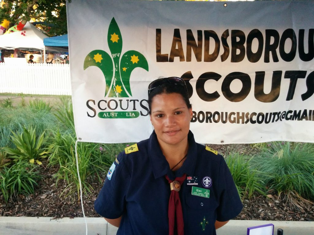 Landsborough Scouts at the Beerwah Street Party 2014