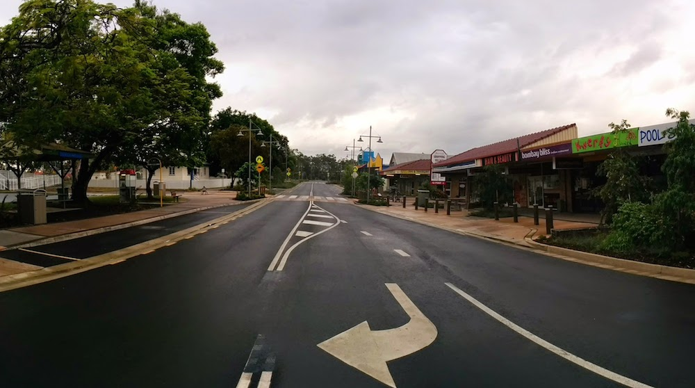 A View South down Simpson Street Beerwah 2014