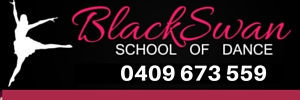Ad Black Swan School of Dance 300x100