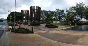 Beerwah Park and Water Towers and Pineapple Boxes 2014 (A Portrait of Simpson Street in Beerwah on Saturday 8th November 2014)