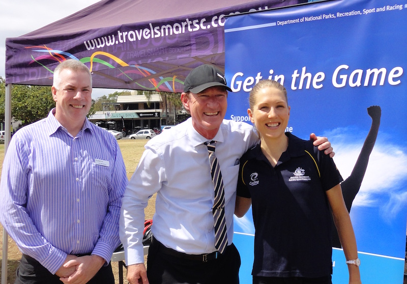 Get Out Get Active_Jim McQuire_Minister_Shara Gillow_7Nov2014