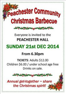 Peachester History Society Christmas BBQ 2014