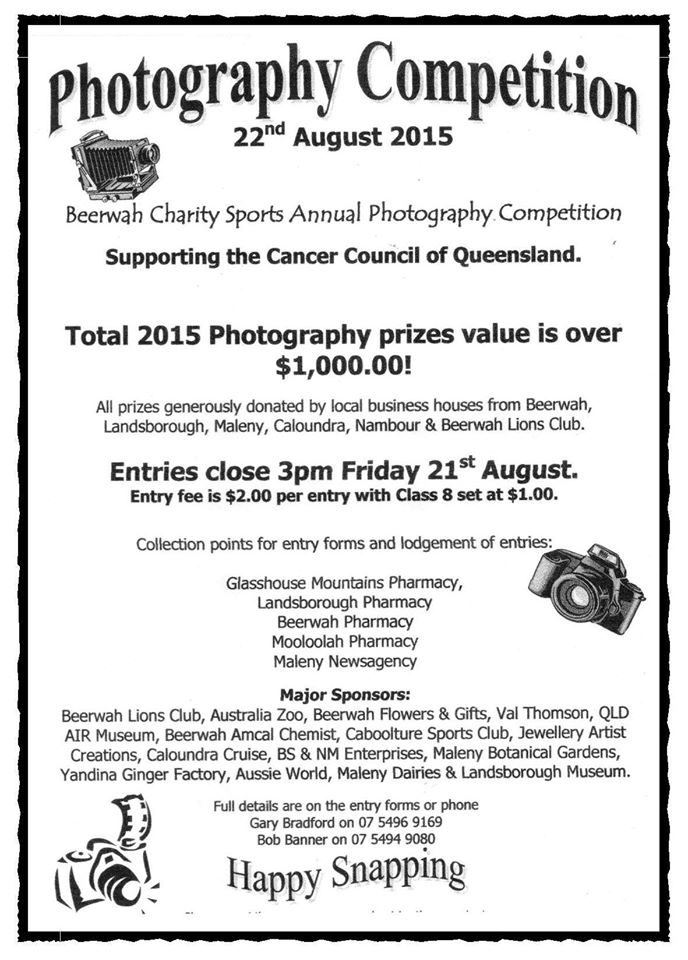 Beerwah Charity Sports and Spring Carnival Photo Comp