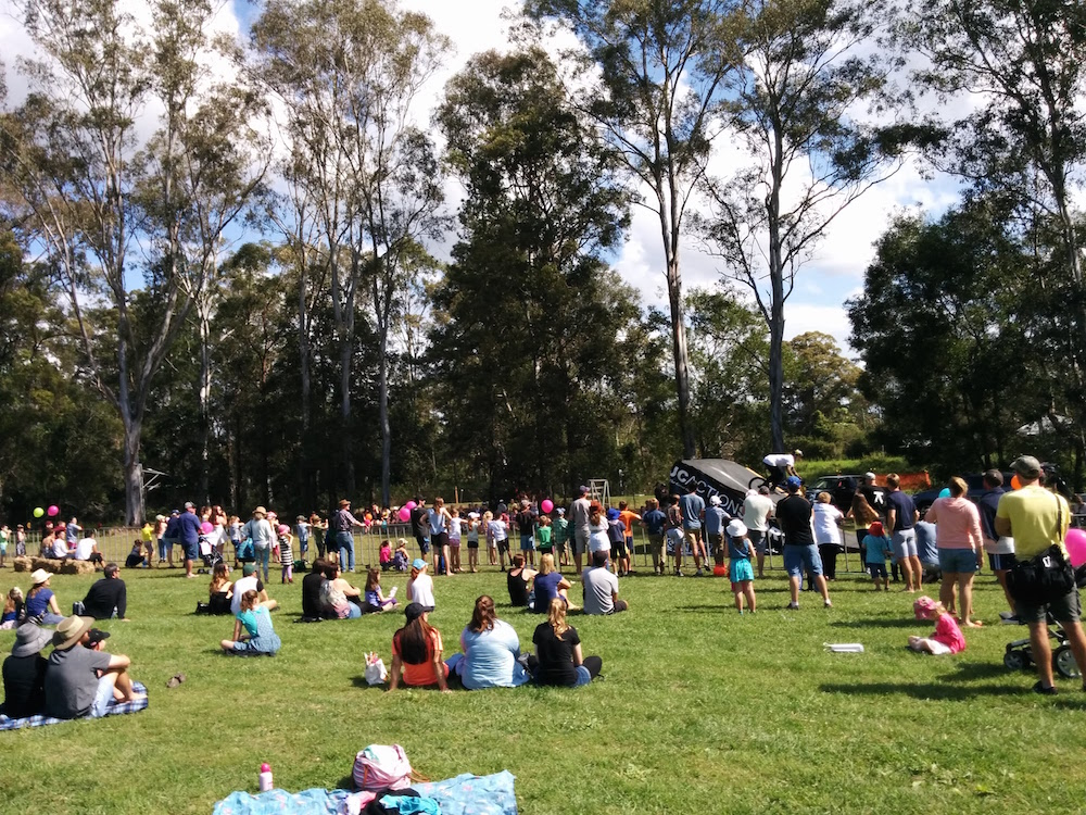 Crowds watching JC Epidemic at Moofest