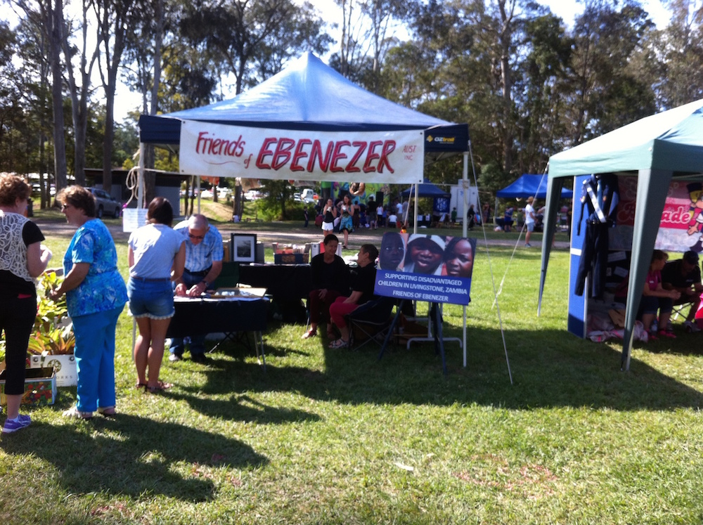 Friends of EBENEZER Tent at Moofest