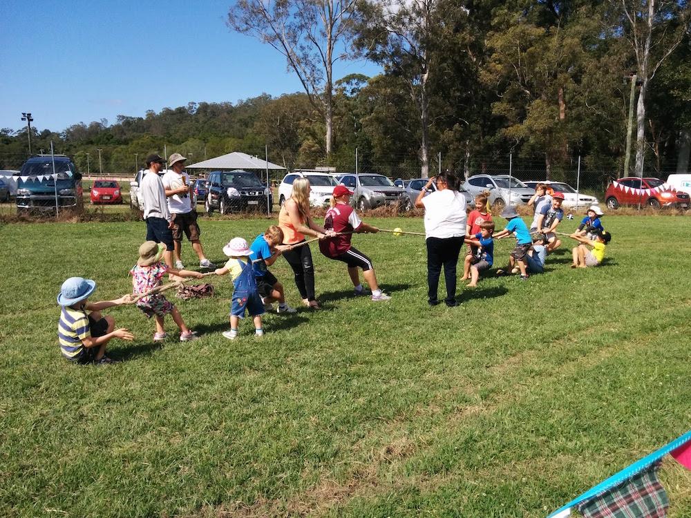 Kids doing the Tug of War Challenge