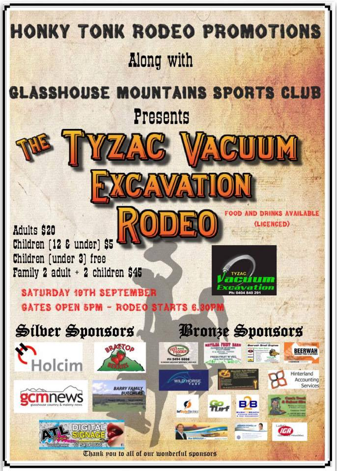 Rodeo at the Glasshouse Sports Club 19th September 2015