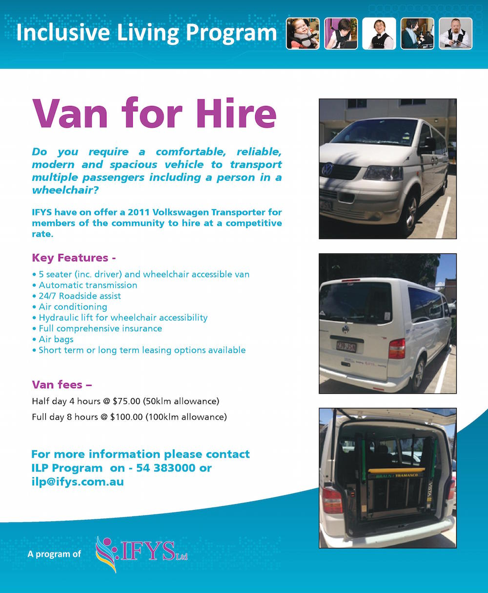 Inclusive Living Program Community Van for Hire