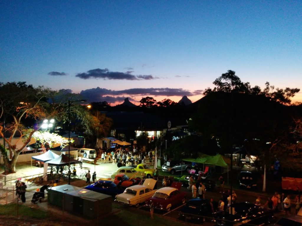 A View of Beerwah from the Railway Bridge Beerwah Street Party 2015