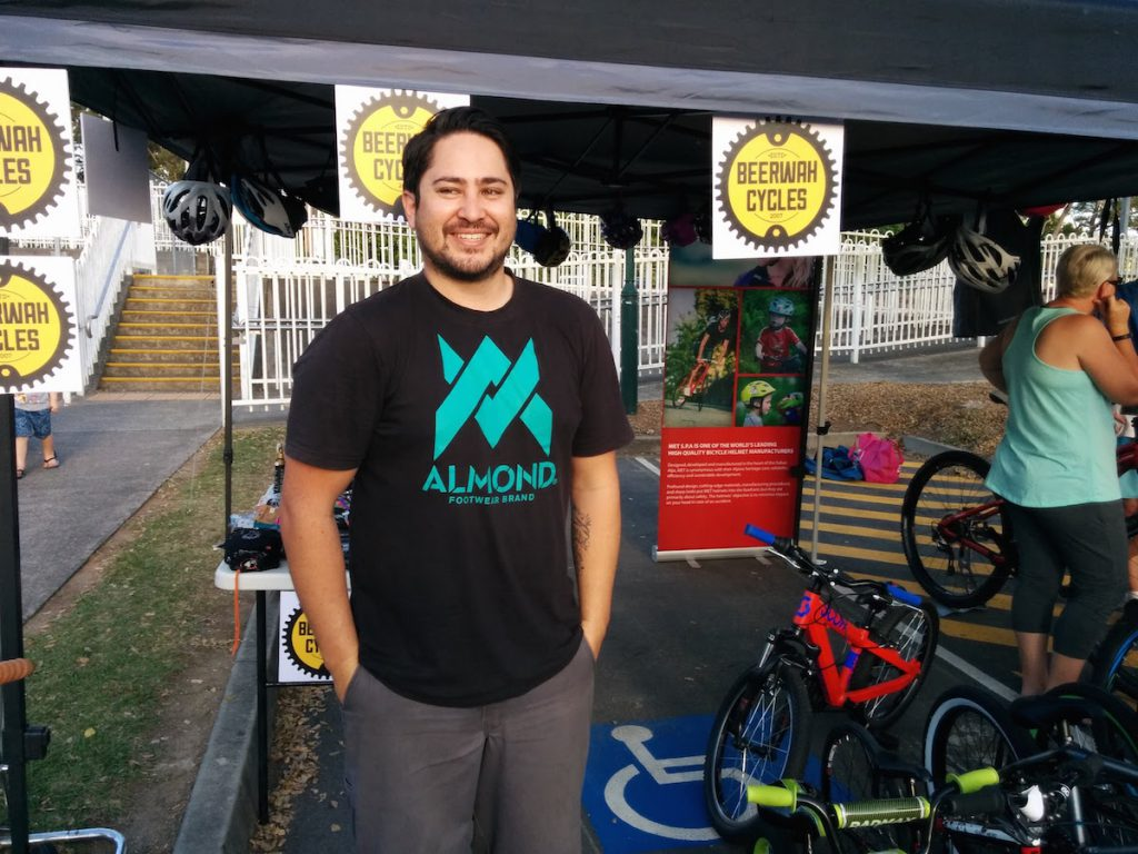 Erik from Beerwah Cycles at the Beerwah Street Party 2015