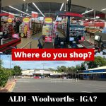 Question: Where do you shop? ALDI, IGA, Woolworths, Coles or CostCo?