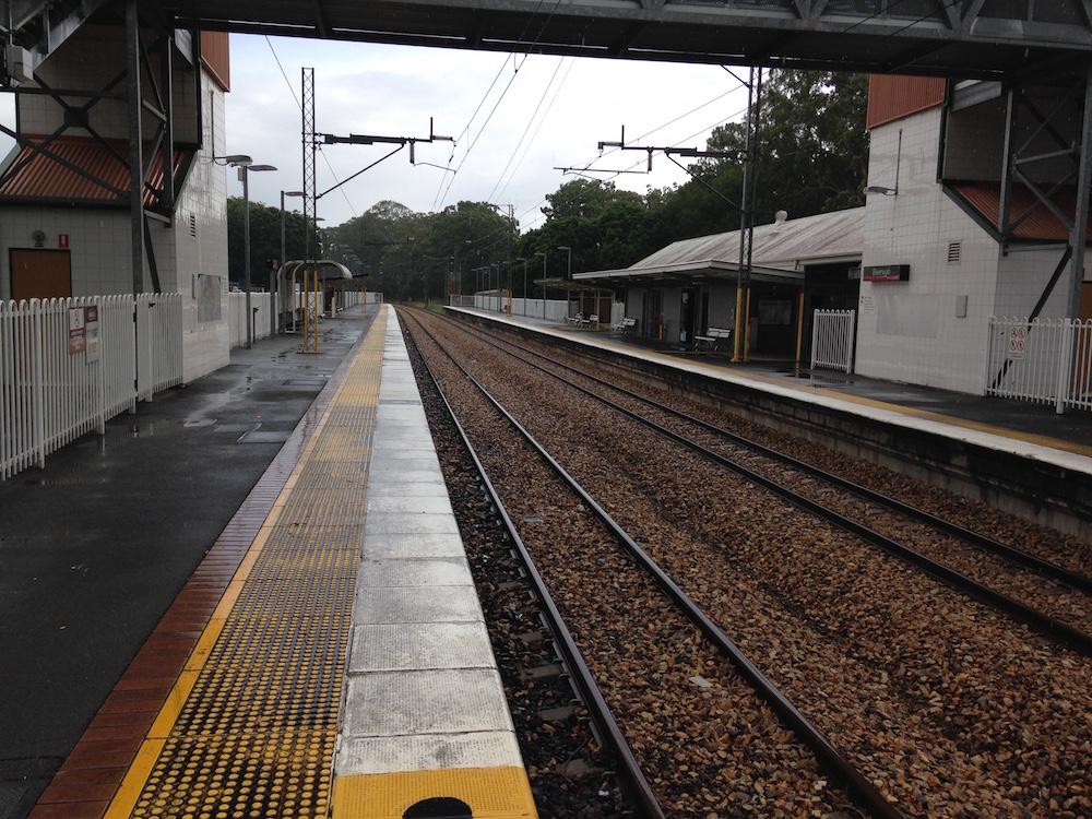 Beerwah Railway Tracks Looking North
